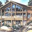 casa de vacaciones, casa en la montaña
