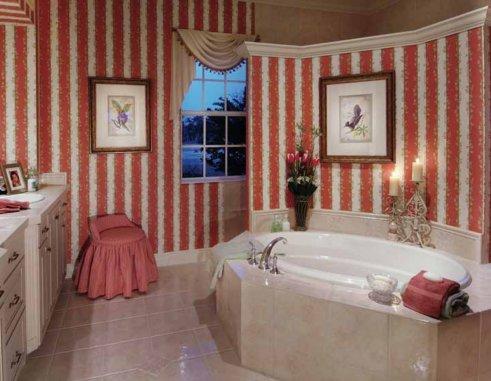 baño con cuadros, baño decorado, diseño de baños