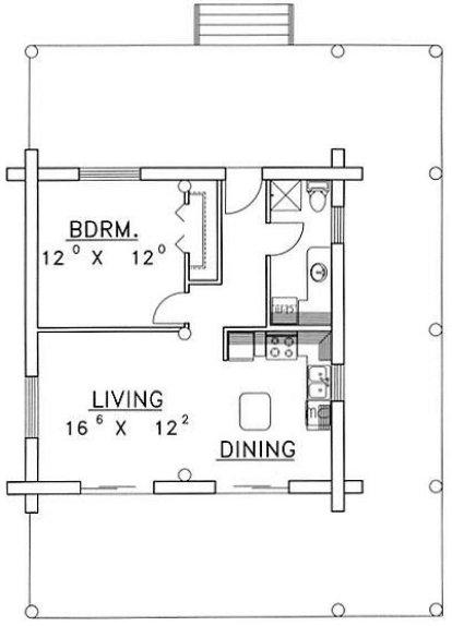 plano casa de madera pequeña, croquis casa de madera