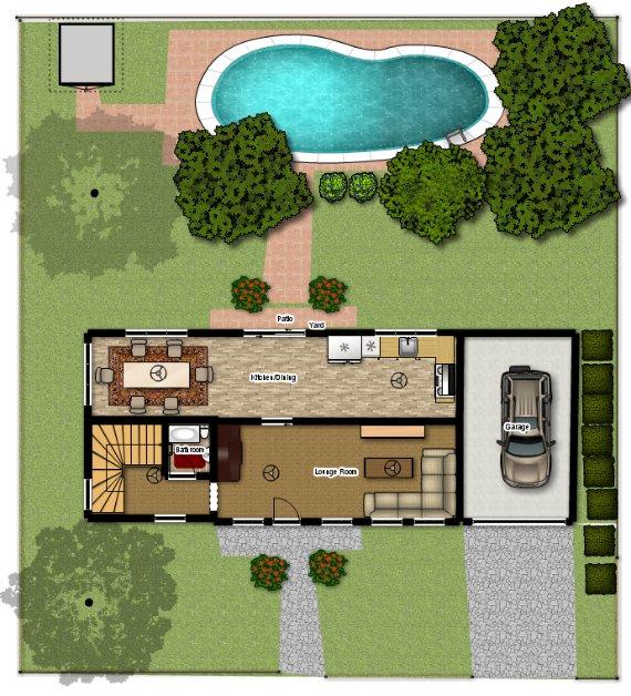 Piscina planos de casas gratis for Fotos de casas de campo con piscina