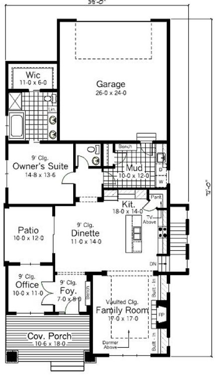 plano de casa pequeña, plano vivienda pequeña, plano de casa chica