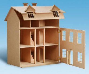 foto de casa de muñecas, croquis casa muñecas, casas para muñecas