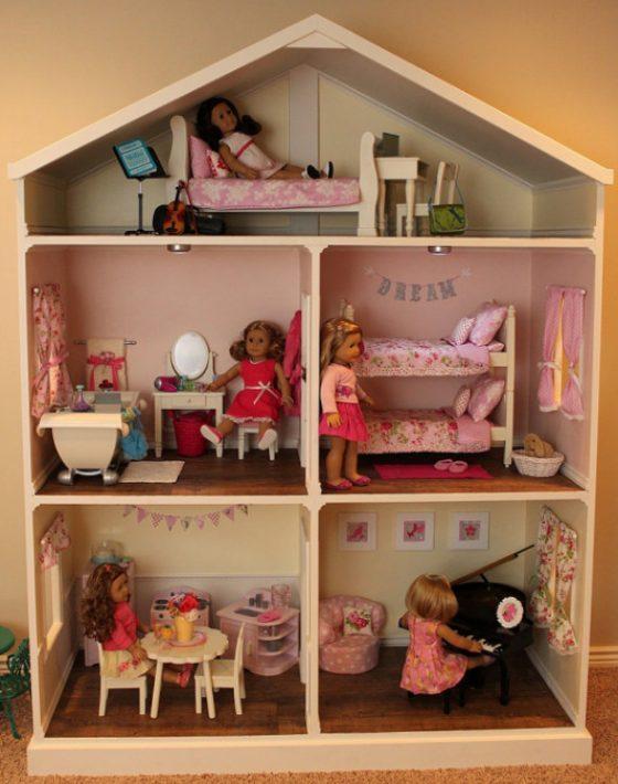 imagen de casa de muñecas, casa para muñecas, juegos para niñas