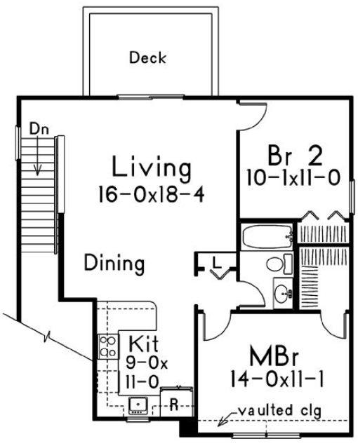 plano de casa pequeña dos plantas