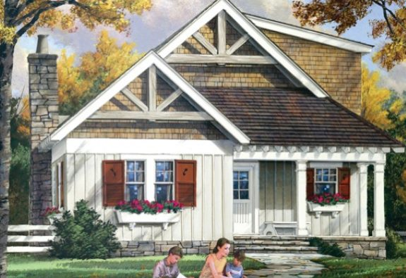 fachada casa pequeña madera, foto casa pequeña madera, frente casa pequeña madera