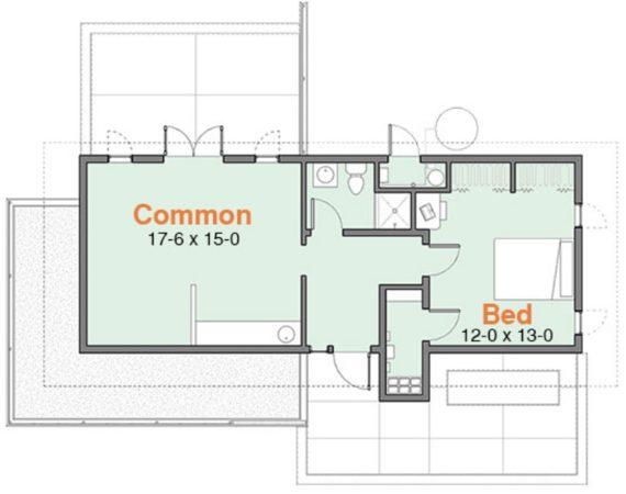 plano casa campo pequeña