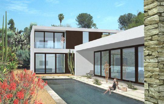 diseño 3d casa 3 dormitorios