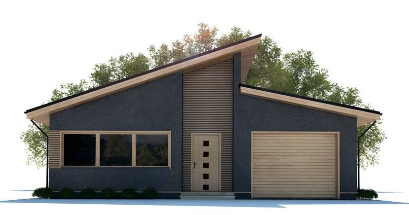 fachada casa moderna, fachada techo a dos aguas