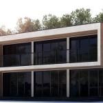 fachada de casa cuadrada