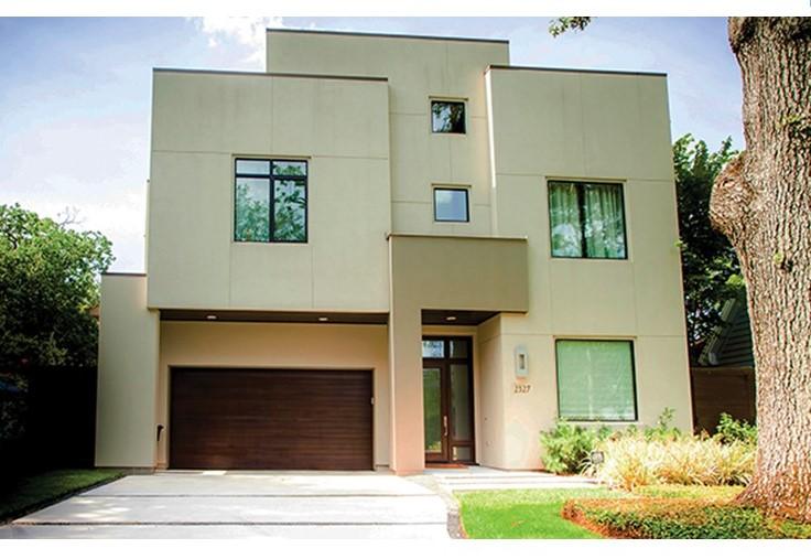 fachada de casa lineal, fachadas de casas