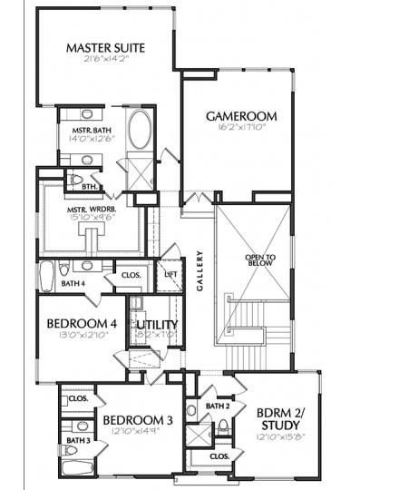 üst kattaki ev planı