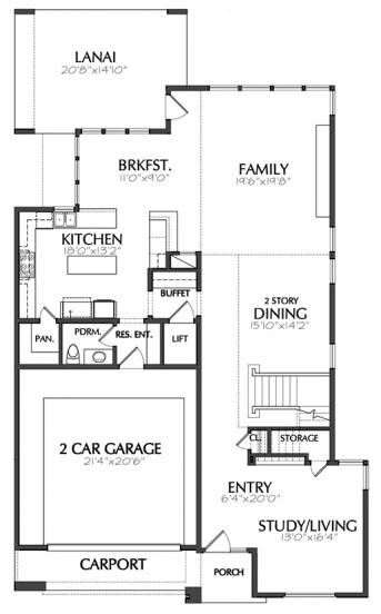 zemin kat planı ev