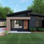 fachada de casa techo a dos aguas bonito, fachada ingreso otro color
